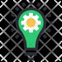 Bulb Cog Idea Icon