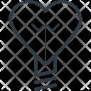 Bulb Heart Shaped Icon