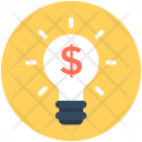 Bulb Dollar Finance Icon