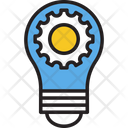 Bulb Cog Bulb Setting Creative Idea Icon