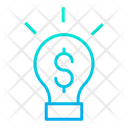 Bulb Dollar Dollar Bulb Finance Idea Icon