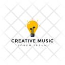 Creative Music Bulb Tag Bulb Label Icon