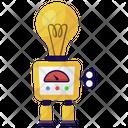 Bulb Robot Icon
