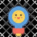 Bulb Smiley Bulb Emoji Emoticon Icon