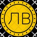 Bulgaria Lev Coin Money Icon