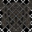 Bull Skull Native American Icon