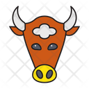 Bull Face Animal Icon