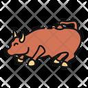 Charging Bull United States America Icon