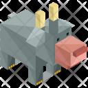 Bull Animal Isometric Icon