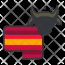Bull Fight World Icon