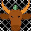 Bull Aggressive Animal Icon