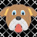 Bulldog Face Pet Icon
