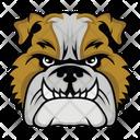 Bulldog Mascot Bulldog Face Dog Face Icon