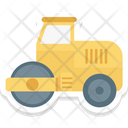 Bulldozer Excavator Heavy Equipment Icon