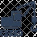 Bulldozer Construction Machinery Excavator Icon