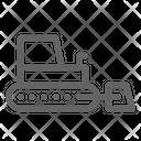 Bulldozer Tractor Construction Icon