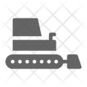 Bulldozer Tractor Construction Icon