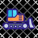 Bulldozer Construction Technology Icon