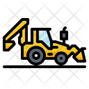 Backhoe Construction Vehicle Icon