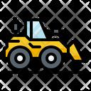 Bulldozer Construction Tractor Icon