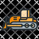 Bulldozer Heavy Machinery Construction Icon
