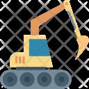 Bulldozer Construction Crawler Icon