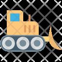 Bulldozer Crane Excavator Icon