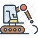 Bulldozer Excavator Equipment Icon