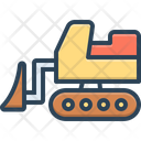 Bulldozer Linear Building Icon