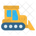 Bulldozer Excavator Construction Icon