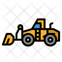 Bulldozer Excavator Transportation Icon