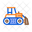 Road Repair Bulldozer Icon
