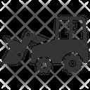 Bulldozer Construction Digger Icon