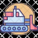 Bulldozer Loader Vehicle Icon