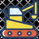Excavator Bulldozer Project Icon