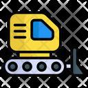Bulldozer Construction Crane Icon