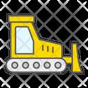 Bulldozer Construction Vehicle Industry Building Icon