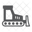 Bulldozer Construction Vehicle Industry Building Icon