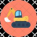 Bulldozer Construction Excavator Icon