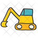 Bulldozer Construction Machine Icon