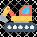 Bulldozer Excavator Heavy Icon