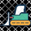 Bulldozer Crane Construction Icon