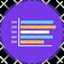 Bullet Bar Chart Statistics Infographic Icon