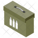 Bullet Box Armoured Case Military Weapon Icon