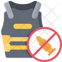 Bullet Proof Vest Jacket Policing Icon