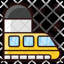 Bullet Train Subway Electric Train Icon