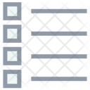 Bulleted Lines List Icon
