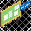 Notice Board Bulletin Board Advertisement Board Icon