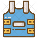 Bulletproof Jacket Security Icon