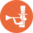 Bullhorn Clown Shouting Jester Icon